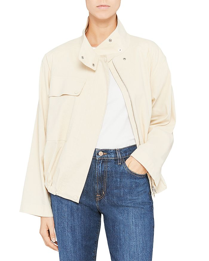 Theory Linens CROPPED UTILITY ANORAK JACKET