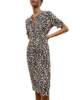 Gerard Darel - Saly Floral Silk Midi Dress