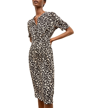 Saly Floral Silk Midi Dress