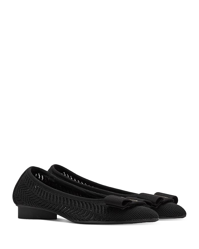 SALVATORE FERRAGAMO Pointed toes VIVA KNIT POINTED TOE FLATS