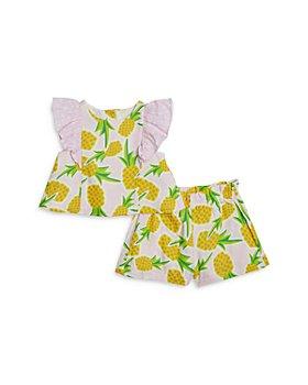 Pippa & Julie - Girls' Pineapple Print Shorts Set - Baby