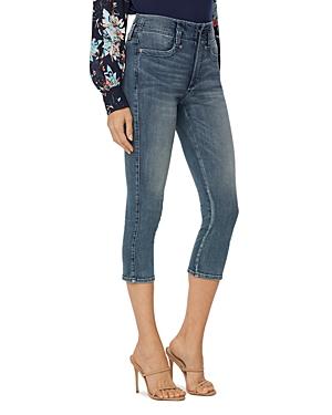 Nydj Petites High Rise Ami Skinny Capri Jeans in Monet Blue