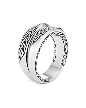 JOHN HARDY - Men's Sterling Silver Classic Chain Decorative Split Band
