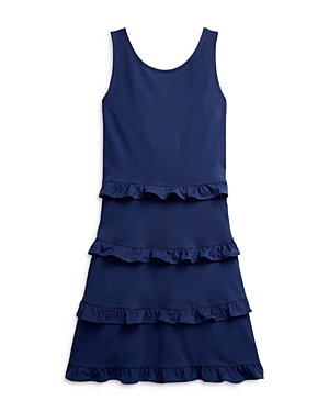 Ralph Lauren POLO RALPH LAUREN GIRLS' RUFFLE TIER DRESS - BIG KID
