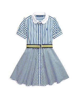 Ralph Lauren POLO RALPH LAUREN GIRLS' MIXED STRIPE DRESS - LITTLE KID