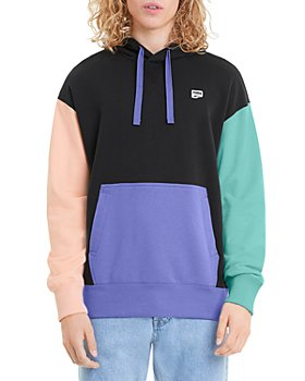 PUMA - Downtown Cotton French Terry Color Blocked Relaxed Fit Hoodie