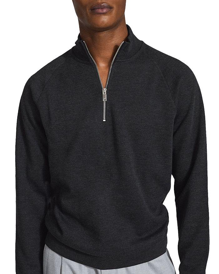 Reiss Sweaters MATTY FUNNEL NECK HALF ZIP SWEATER