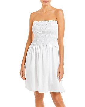 Tory Burch - Smocked Short Dress Swim Cover-Up