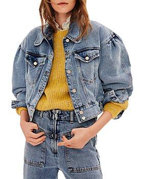 ba&sh - Dilara Cotton Denim Jacket in Blue