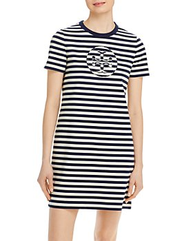 Tory Burch - Striped Logo T-Shirt Dress