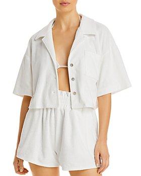 AQUA - Cropped Terrycloth Shirt - 100% Exclusive