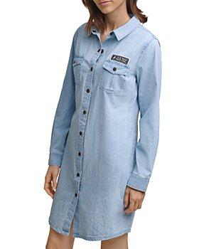 KARL LAGERFELD PARIS - Cotton Denim Shirt Dress