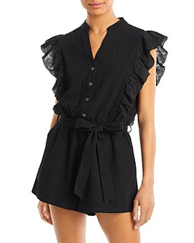 AQUA - Therese Flutter Sleeve Romper - 100% Exclusive