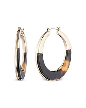 Ralph Lauren - Tortoise Semi Inlay Hoop Earrings