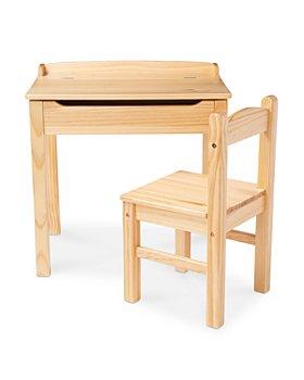 Melissa & Doug - Wood Desk & Chair Set - Ages 3+