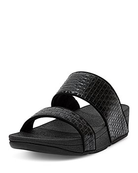 FitFlop - Women's Olive Slip On Wedge Sandals