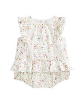Ralph Lauren - Girls' Cotton Ruffle Top & Bloomer Shorts Set - Baby