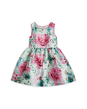 Pippa & Julie - Girls' Fit & Flare Floral Print Dress - Little Kid