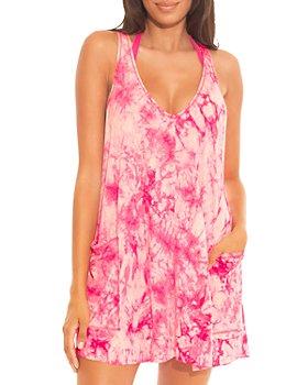 BECCA® by Rebecca Virtue - Virtue Tide Pool Tie Dye Dress Swim Cover-Up