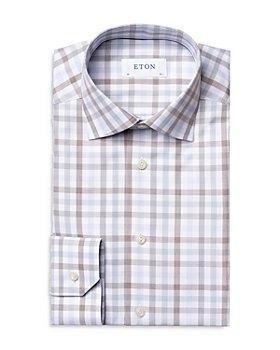 Eton - Plaid Business Casual Slim Fit Dress Shirt