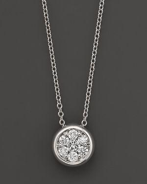 Diamond Cluster Pendant in 14K White Gold, 0.25 ct. t.w. - 100% Exclusive
