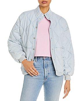 BLANKNYC - Quilted Drop Shoulder Washed Denim Jacket