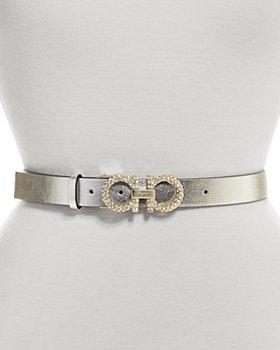 Salvatore Ferragamo - Women's Embellished Double Gancini Leather Belt
