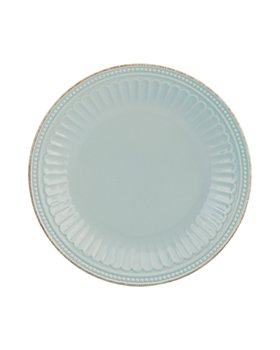 Lenox - French Perle Groove Ice Blue Accent Plate