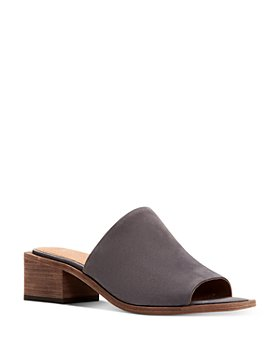 Frye - Women's Lucia Square Toe Leather Mule Sandals