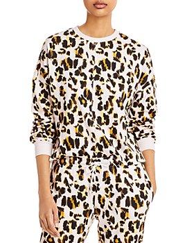 AQUA - Leopard Print Sweatshirt - 100% Exclusive