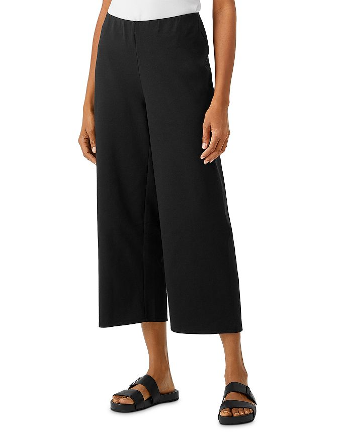 Eileen Fisher - High Waisted Straight Cropped Pants
