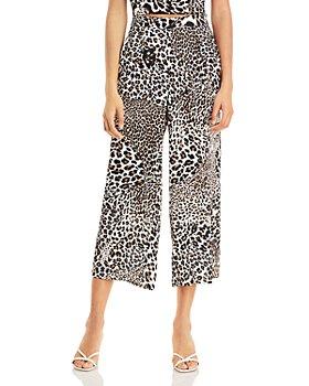 AQUA - Leopard Print Cropped Pants - 100% Exclusive