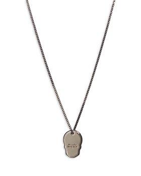 Alexander McQUEEN - Skull Tag Pendant Necklace