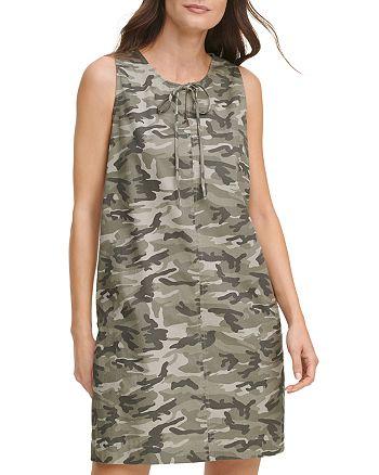 DKNY - Camo Print Shift Dress
