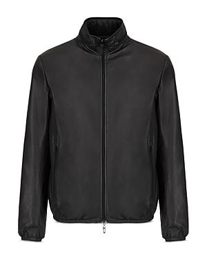 Reversible Leather to Nylon Jacket