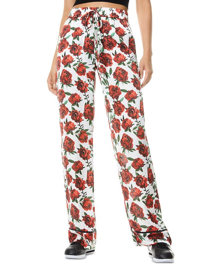 Alice And Olivia ALICE AND OLIVIA MEERA PIPED DRAWSTRING PANTS