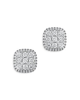 Bloomingdale's - Diamond Cluster Earrings in 14K White Gold, 1.50 ct. t.w. - 100% Exclusive