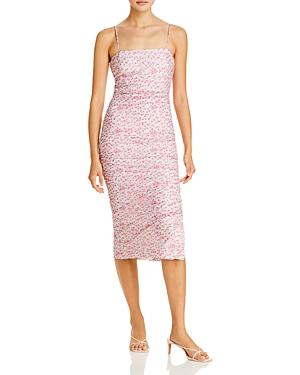 Ditsy Ruched Midi Dress
