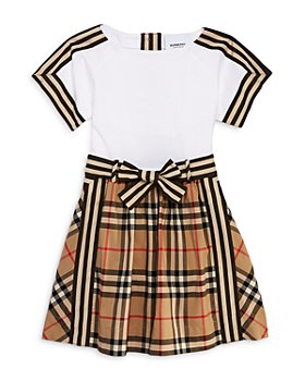 Burberry - Girls' Rhonda Mixed Pattern Dress - Baby