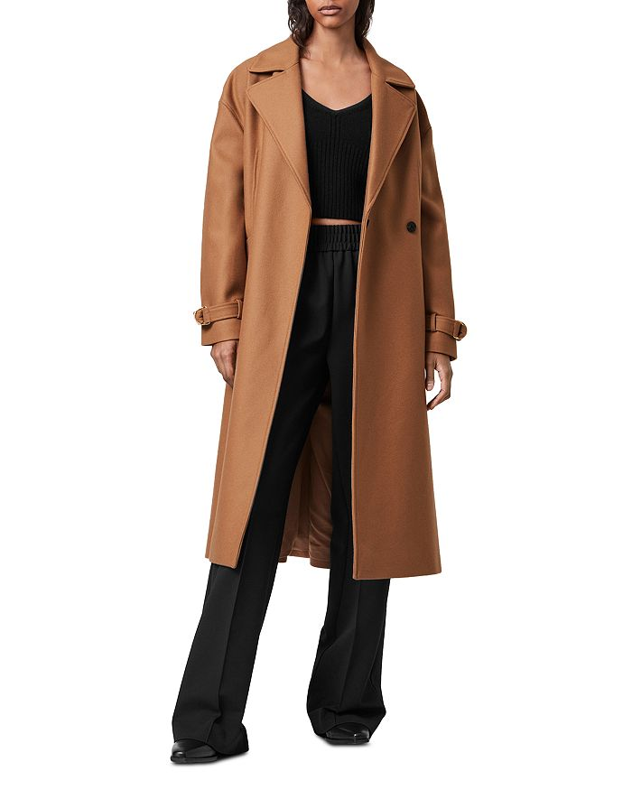 Allsaints Wools WILMA DOUBLE BREASTED WOOL BLEND COAT