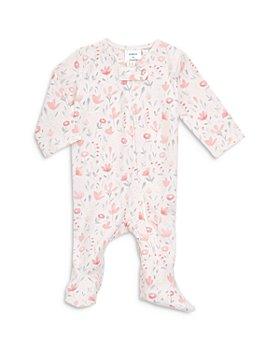 Aden and Anais - Girls' Floral Print Comfort Zip Front Footie - Baby