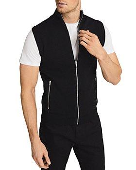REISS - Henry Zip Front Knit Vest