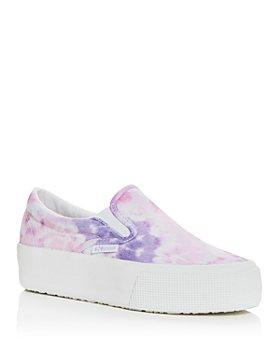 Superga - Women's Tie Dye Slip On Platform Sneakers