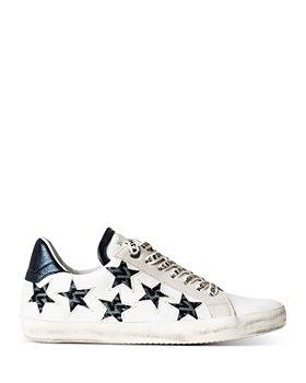 Zadig & Voltaire - Women's Monogram Stars Low Top Sneakers