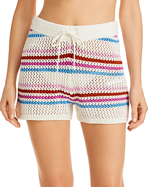 L*Space On The Horizon Striped Shorts Swim Cover-Up