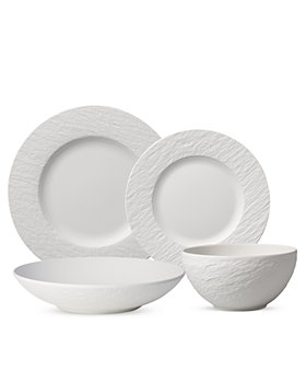 Villeroy & Boch - Manufacture Rock Blanc 4 Piece Place Setting
