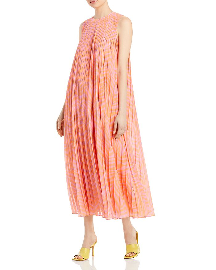 Lafayette 148 New York - Willow Tiger Striped Pleated Dress