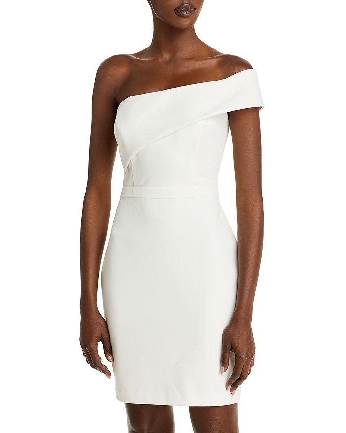 AQUA - One Shoulder Scuba Crêpe Dress - 100% Exclusive