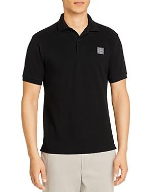Stone Island Logo Regular Fit Polo Shirt