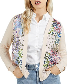 Ted Baker - Woven Front Topairy Cardigan
